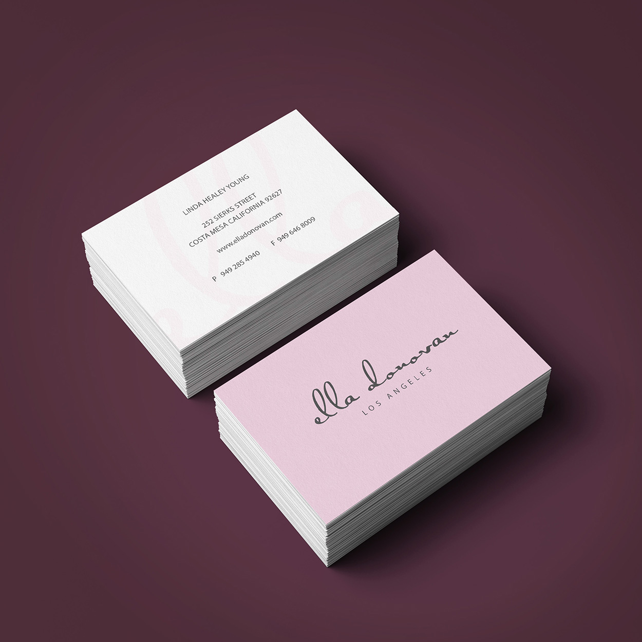 ella business card