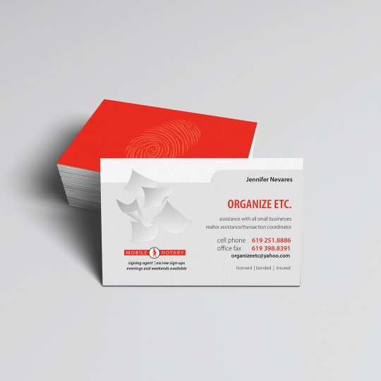 organize business card design